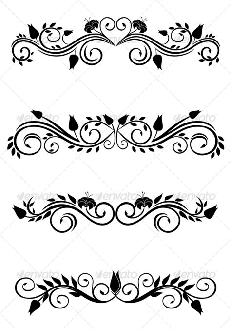creative floral patterns template for design page decoration vector vintage floral decorations by seamartini graphicriver