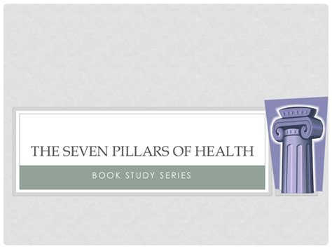unmedicated the four pillars of wellness books the seven pillars of health