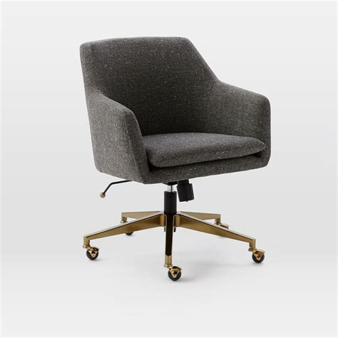 office desk chair helvetica upholstered office chair west elm au