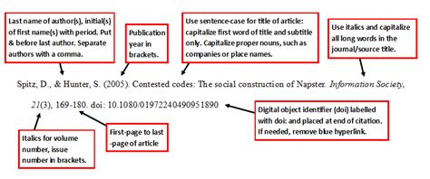 journal article  doi  style  edition