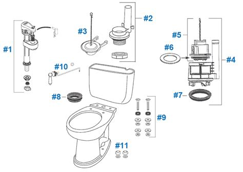 Toto Plumbing Parts by Toto Dartmouth Toilet Replacement Parts