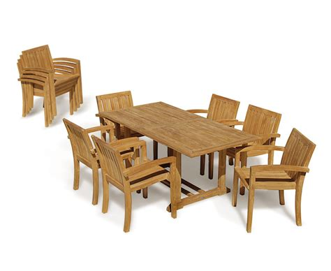 hton fixed rectangular 6 seater dining set garden hilgrove 6 seater garden table and monaco stacking chairs set teak