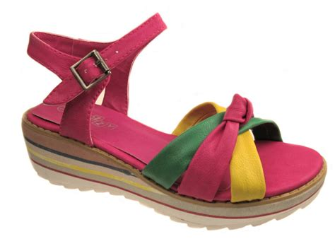 size 12 sandals multi colour flat summer strappy sandals size uk 12