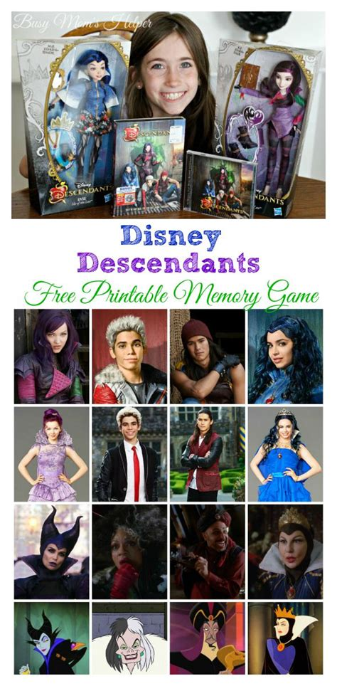 descendants coloring pages games disney s descendants free printable memory game busy
