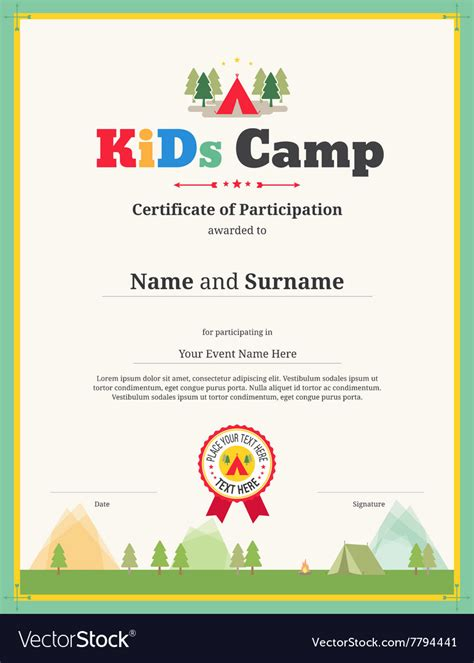 boot c certificate template kid certificate of participation template for c royalty
