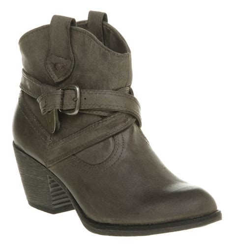 womens rocket satire western ankle boot grey boots ebay