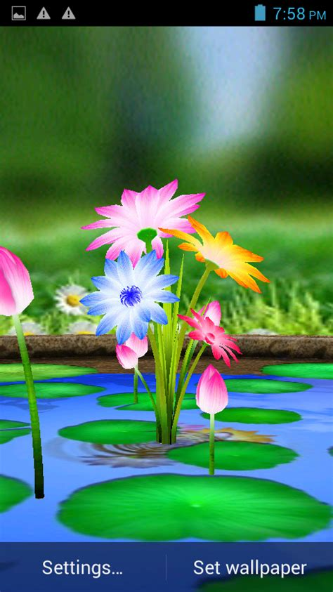 flowers touch wallpaper android apps  google play