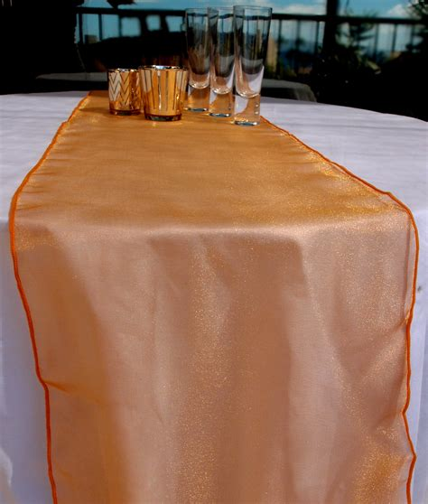 organza table runner orange