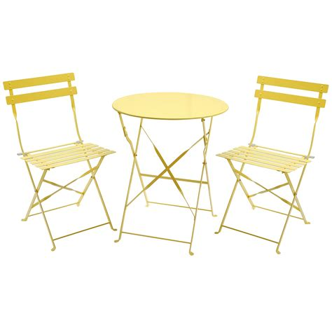 Patio Table 2 Chairs Charles Bentley 3 Metal Bistro Set Garden Patio Table 2 Chairs 5 Colours