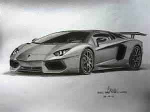Drawing Of A Lamborghini My Lamborghini Aventador Graphite Drawing By Vinjiro On