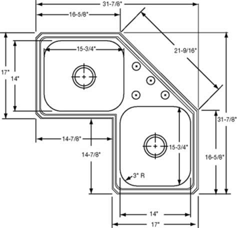 corner sink dimensions elkay gourmet celebrity ccr3232 topmount corner double
