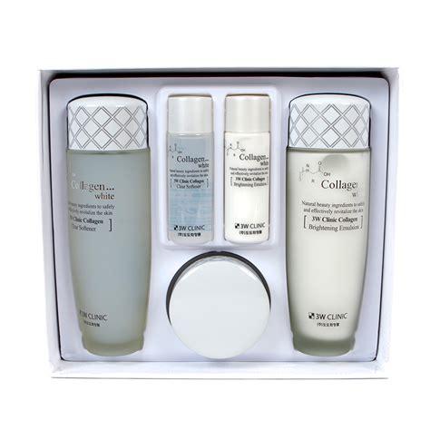 Collagen Whitening 3w clinic collagen whitening skin care items 3 set