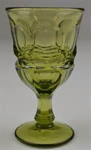 Stemware Wine Glasses Vintage Fostoria Argus Green Pattern Wine Glass 4 875