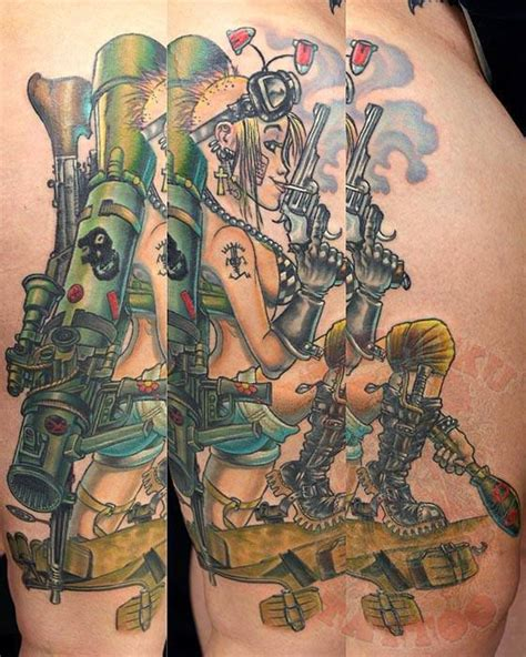 tank girl tattoo tank seppuku johnny thief nj inked