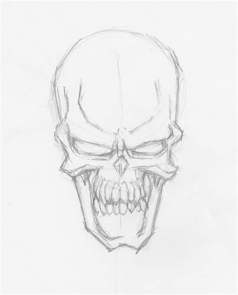 sketch and draw a complete guide to drawing evil vector skulls in