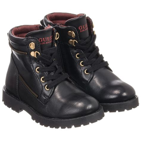 Guess Color Leather Black guess black leather glenn boots childrensalon