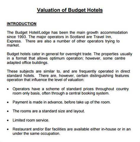 restaurant budget template 6 restaurant budget sles sle templates