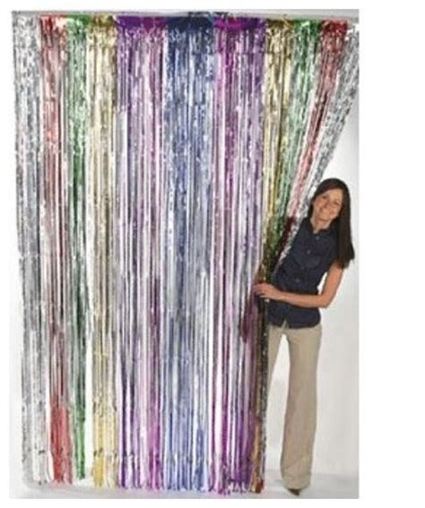 how to make fringe curtains metallic rainbow foil fringe curtains 1 pc modern
