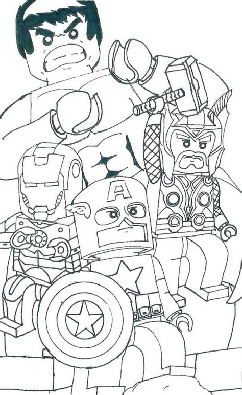 marvel logo coloring page   lego coloring pages