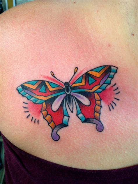small colorful butterfly tattoos colorful butterfly