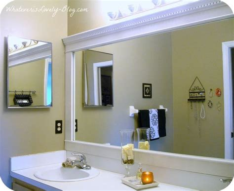 bathroom mirror trim ideas bathroom mirror framed with crown molding hometalk
