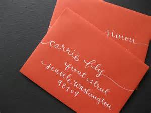 Addressing Bridal Shower Invitations by Calligraphy On Wedding Calligraphy Envelope