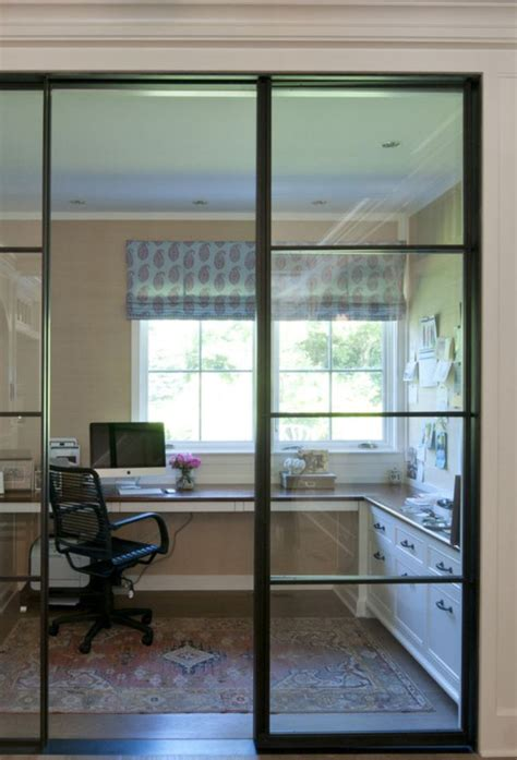 Interior Glass Walls For Homes Steel And Glass Wall Home Office Home Office And Work