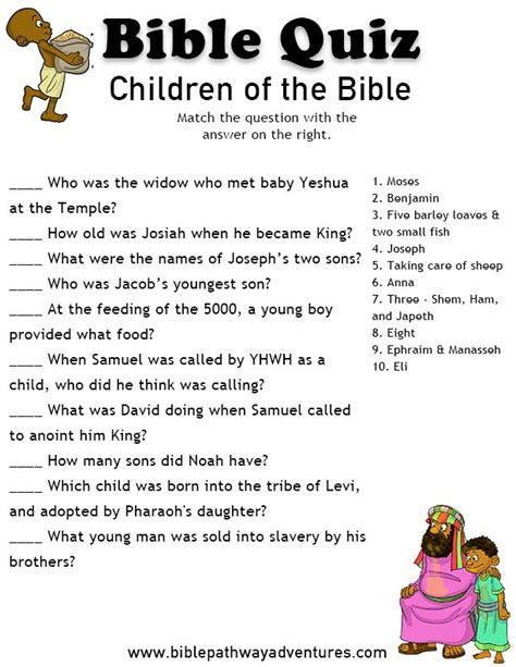 printable quiz for 12 year olds 17 best images about free bible printables for kids on