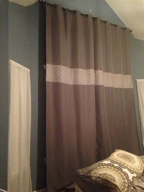 banded curtains banded curtain with one patterned fabric window