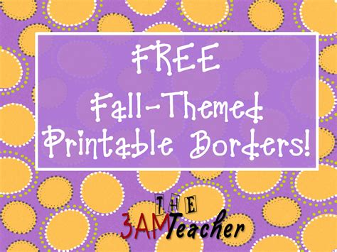 Bulletin Board Printables