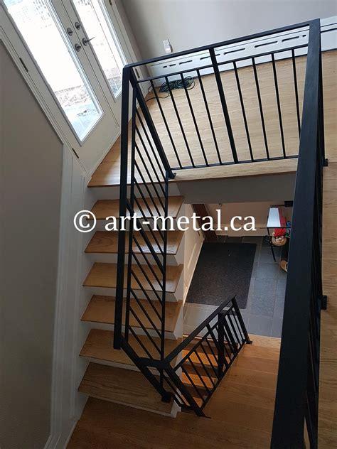 interior metal stair railing    contractor