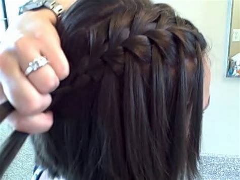 create  diy waterfall braid cute girls