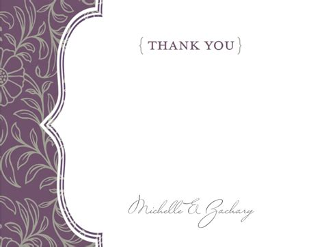 purple thank you card templates purple boho thank you card