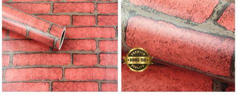 jual wallpaper dinding sticker batu bata merah deco