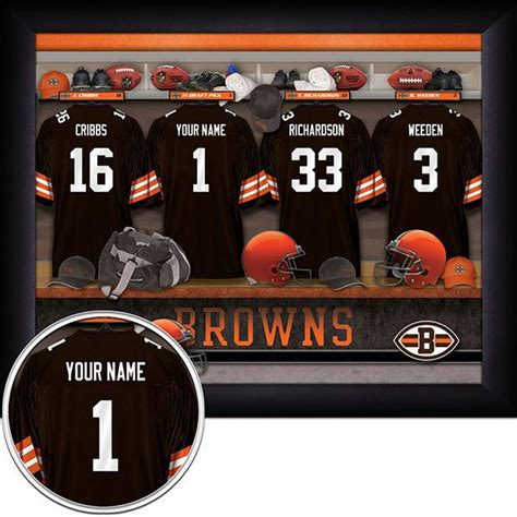 cleveland browns locker room pin by oakhouse sports prints on personalized nfl football locker roo