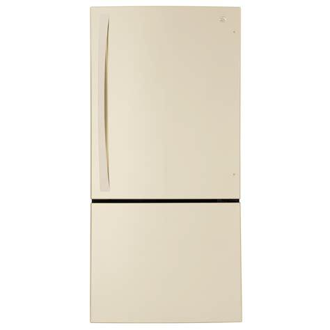 Best French Door Refrigerator Brand - kenmore elite 241 cu ft bottomfreezer refrigerator bisque beige bisque