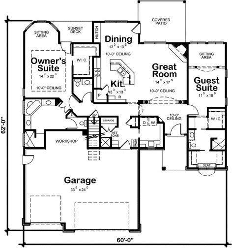 2 bedroom retirement house plans i like the central living area separating two bedroom