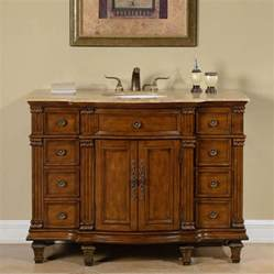 48 inch transitional single bathroom vanity with a