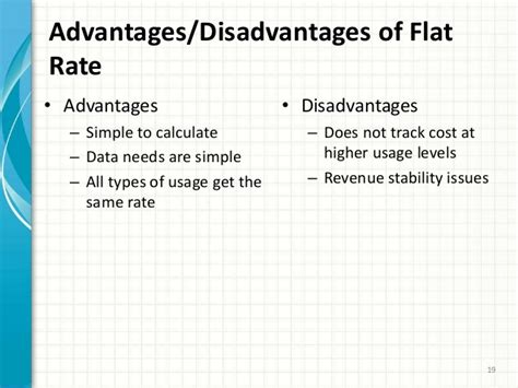 Advantages Of Flatsharing by Alternative Rate Design