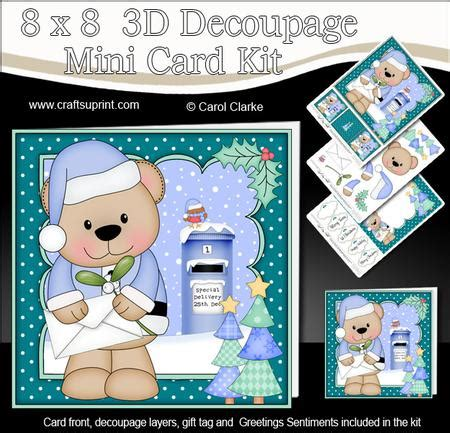 3d Decoupage Kits - 8x8 livvy santa letter fight mini kit 3d