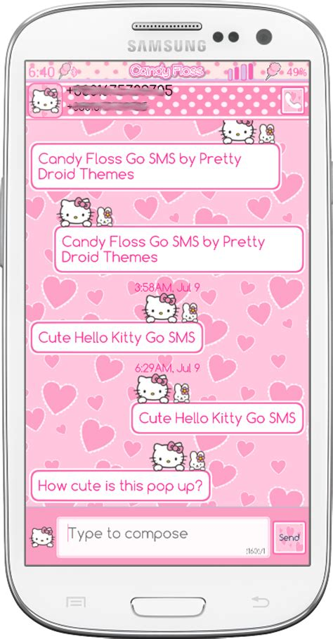 Go Sms Themes Hello Kitty Black | pretty droid themes cute hello kitty go sms and go