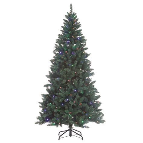 color changing tree 7 5 x 48 quot pre lit fairview color changing led artificial