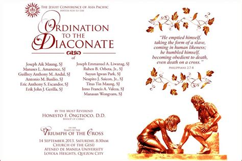 printable ordination invitations deacon ordination certificate template deacon ordination