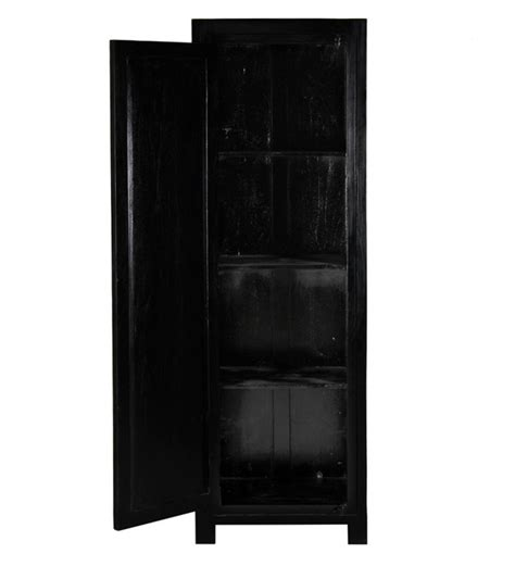 armadi neri armadio etnico nero 1 anta ethnic chic mobili legno massello