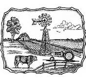 Farm Scene Drawing  Galleryhipcom The Hippest Galleries