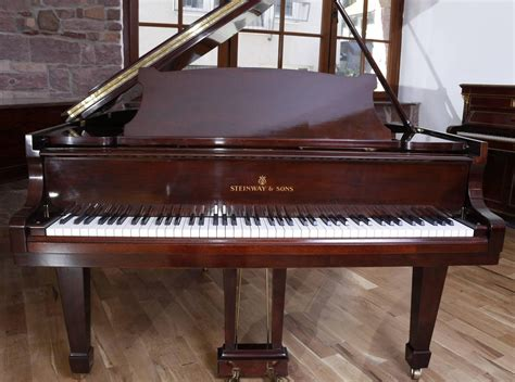 mahagony hamburg steinway and sons model s baby grand piano mahogany