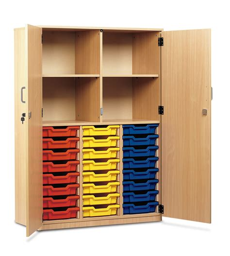 Entrance Storage Units Monarch School Cupboard Lockable Door Storage Unit 24