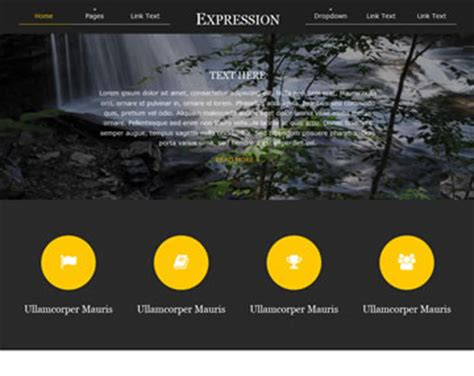 Microsoft Expression Web Templates Free by Expression Website Template Free Website Templates Os