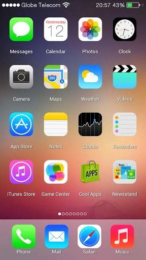 iphone themes for android apk ios 7 launcher 1 0 apk