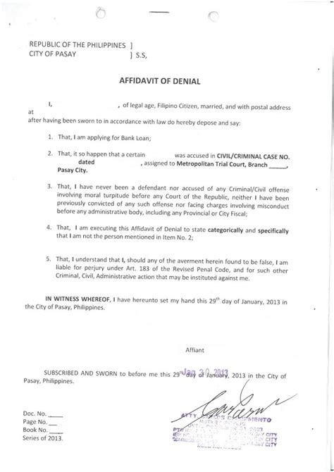 commercial affidavit of template excellent affidavit of template with sworn word